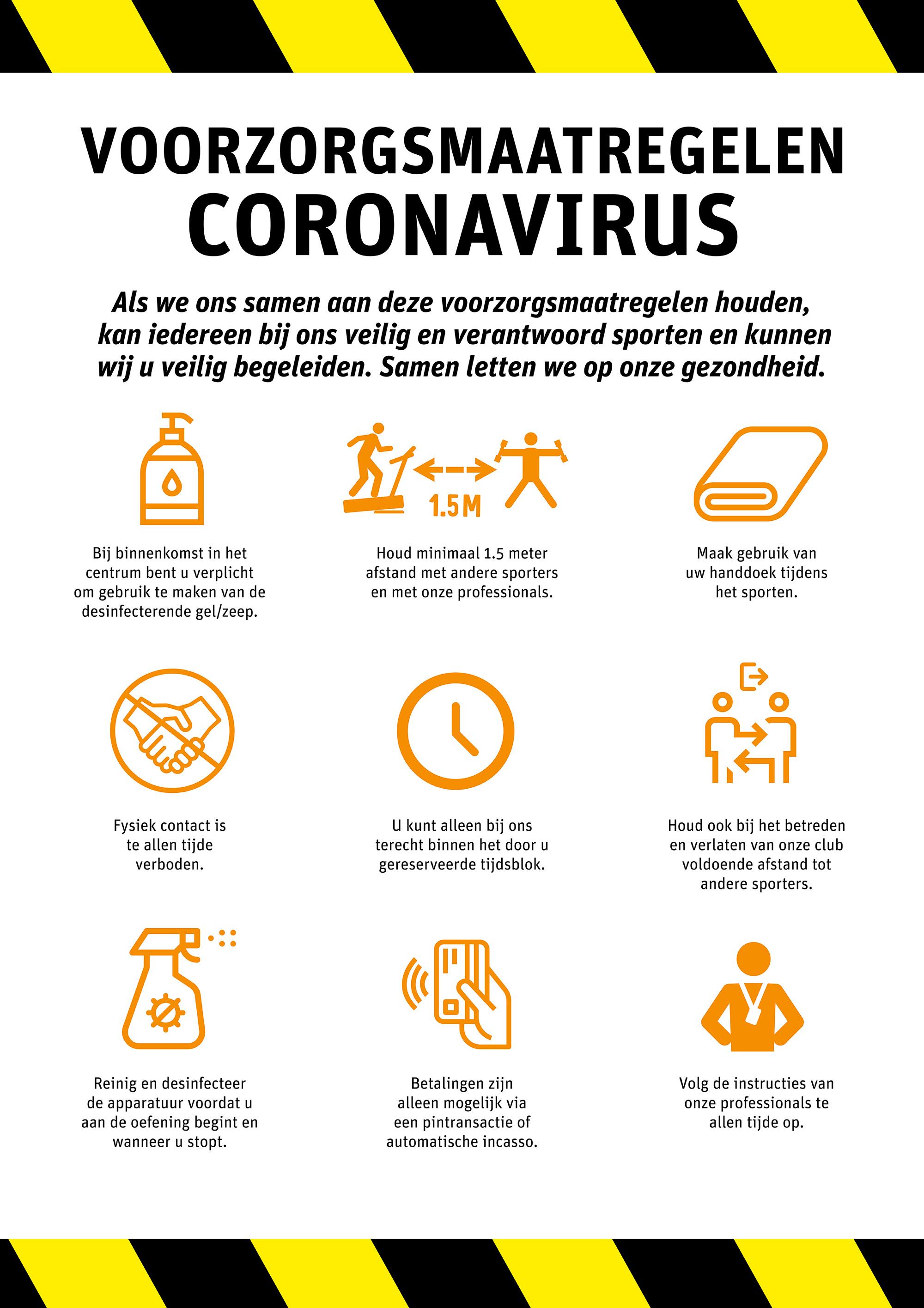 voorzorgsmaatregelen coronavirus fysiofit ouderkerk